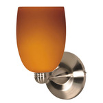 (1 Light) Halogen Wall Fixture - Brushed Nickel / Butterscotch Brandy - Nuvo Lighting 60-690