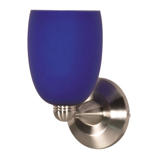 (1 Light) Halogen Wall Fixture - Brushed Nickel / Cobalt Brandy - Nuvo Lighting 60-691