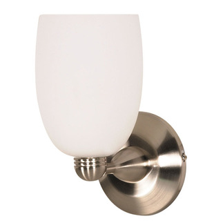 (1 Light) Halogen Wall Fixture - Brushed Nickel / Arctic Brandy - Nuvo Lighting 60-692