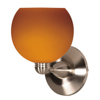 (1 Light) Halogen Wall Fixture - Brushed Nickel / Butterscotch Sphere - Nuvo Lighting 60-693