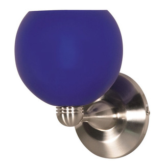(1 Light) Halogen Wall Fixture - Brushed Nickel / Cobalt Sphere - Nuvo Lighting 60-694 - Residential Light Fixture