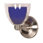 (1 Light) Halogen Wall Fixture - Brushed Nickel / Cobalt and Crystal Bullet - Nuvo Lighting 60-700
