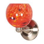 (1 Light) Halogen Wall Fixture - Brushed Nickel / Molten Lava Sphere - Nuvo Lighting 60-707