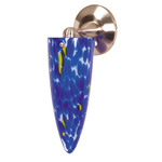(1 Light) Halogen Wall Fixture - Brushed Nickel / Caspian Blue Cone - Nuvo Lighting 60-708