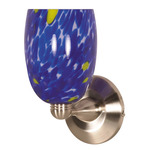 (1 Light) Halogen Wall Fixture - Brushed Nickel / Caspian Blue Brandy - Nuvo Lighting 60-709 - Residental Light Fixture