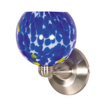 (1 Light) Halogen Wall Fixture - Brushed Nickel / Caspian Blue Sphere - Nuvo Lighting 60-710