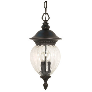 (3 Light) Hanging Lantern - Chestnut Bronze / Clear Melon Seed Glass - Nuvo Lighting 60-788