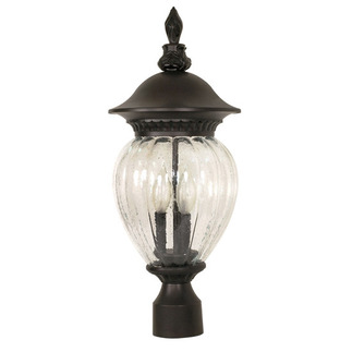 (3 Light) Post Lantern - Chestnut Bronze / Clear Melon Seed Glass - Nuvo Lighting 60-790