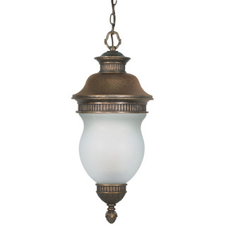 (3 Light) Hanging Lantern - Platinum Gold / Satin Frost Glass - Nuvo Lighting 60-882 - Residential Light Fixture