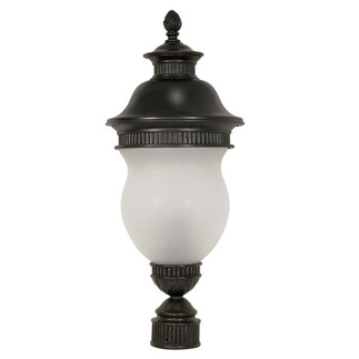 (3 Light) Post Lantern - Chestnut Bronze / Satin Frost Glass - Nuvo Lighting 60-883