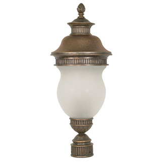 (3 Light) Post Lantern - Platinum Gold / Satin Frost Glass - Nuvo Lighting 60-884