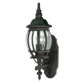 (1 Light) Wall Lantern - Textured Black / Clear Beveled Glass - Nuvo Lighting 60-887