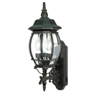 (3 Light) Wall Lantern - Textured Black / Clear Beveled Glass - Nuvo Lighting 60-890