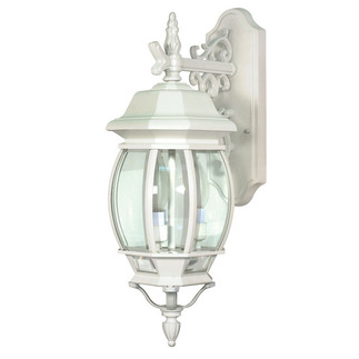 (3 Light) Wall Lantern - White / Clear Beveled Glass - Nuvo Lighting 60-891
