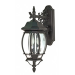 (3 Light) Wall Lantern - Textured Black / Clear Beveled Glass - Nuvo Lighting 60-893