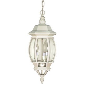 (3 Light) Hanging Lantern - White / Clear Beveled Glass - Nuvo Lighting 60-894 - Residential Light Fixture
