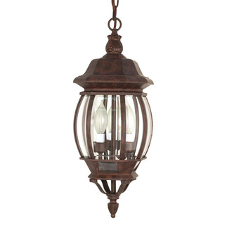 (3 Light) Hanging Lantern - Old Bronze / Clear Beveled Glass - Nuvo Lighting 60-895