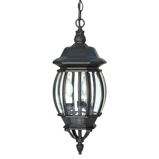 (3 Light) Hanging Lantern - Textured Black / Clear Beveled Glass - Nuvo Lighting 60-896 - Residential Light Fixture