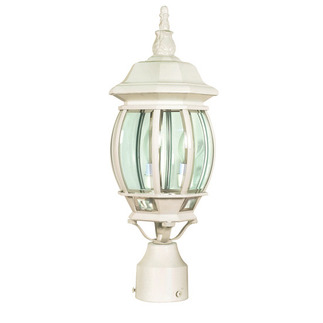 (3 Light) Post Lantern - White / Clear Beveled Glass - Nuvo Lighting 60-897