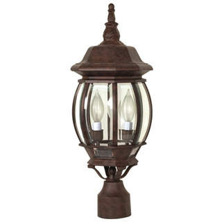 (3 Light) Post Lantern - Old Bronze / Clear Beveled Glass - Nuvo Lighting 60-898