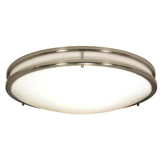 (3 CFL) - Flush Mount Ceiling Fixture - Brushed Nickel / White Glass - Energy Star Qualified - Nuvo Lighting 60-900