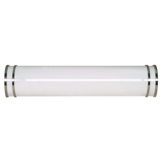 (2 Light) Vanity - Fluorescent - F17T8 - Brushed Nickel / White Glass - Nuvo Lighting 60-906