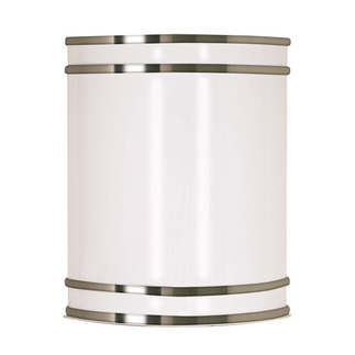 (1 CFL) Wall Fixture - Fluorescent - Brushed Nickel / White Plastic - Energy Star Qualified - Nuvo Lighting 60-907