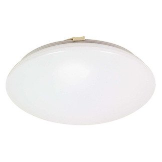 (2 CFL) - Flush Mount Ceiling Fixture - Smooth White / White Glass - Energy Star Qualified - Nuvo Lighting 60-917
