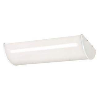 (3 Light) Fluorescent Ceiling Fixture - Smooth White / White Glass - Energy Star Qualified - F17T8 - Nuvo Lighting 60-921