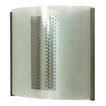 (1 CFL) Wall Fixture - Black and Steel / Frosted Glass - Energy Star Qualified - Nuvo Lighting 60-933
