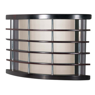 (1 CFL) Wall Fixture - Rosewood / Frosted - Energy Star Qualified - Nuvo Lighting 60-934