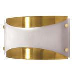 (1 CFL) Wall Fixture - Brushed Brass / Frosted Glass - Energy Star Qualified - Nuvo Lighting 60-939