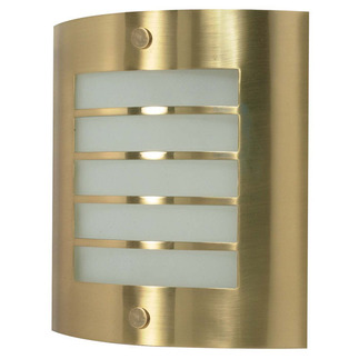 (1 CFL) Wall Fixture - Brushed Brass / Frosted Glass - Energy Star Qualified - Nuvo Lighting 60-945