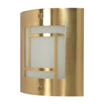 (1 CFL) Wall Fixture - Brushed Brass / Frosted Glass - Energy Star Qualified - Nuvo Lighting 60-949