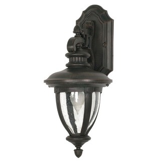 (1 Light) (Arm Down) Wall Lantern - Old Penny Bronze / Clear Seed Glass - Nuvo Lighting 60-952
