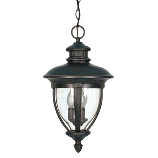 (3 Light) Hanging Lantern - Old Penny Bronze / Clear Seed Glass - Nuvo Lighting 60-958 - Residential Light Fixture