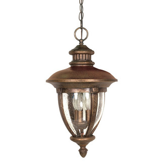 (3 Light) Hanging Lantern - Platinum Gold / Clear Seed Glass - Nuvo Lighting 60-959
