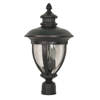 (3 Light) Post Lantern - Old Penny Bronze / Clear Seed Glass - Nuvo Lighting 60-960
