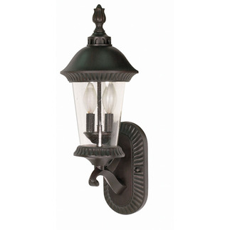 (3 Light) (Arm Up) Wall Lantern - Chestnut Bronze / Clear Seed Glass - Nuvo Lighting 60-962 - Residential Light Fixture