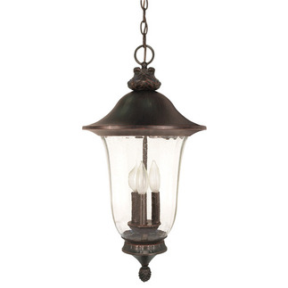(3 Light) Hanging Lantern - Old Penny Bronze / Fluted Seed Glass - Nuvo Lighting 60-981
