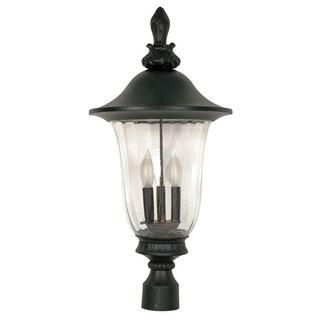 (3 Light) Post Lantern - Old Penny Bronze / Fluted Seed Glass - Nuvo Lighting 60-983