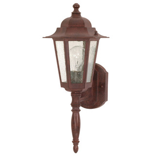 (1 Light) Wall Lantern - Old Bronze / Clear Seed Glass - Nuvo Lighting 60-986 - Residential Light Fixture