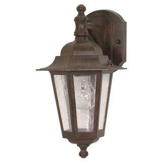 (1 Light) (Arm Down) Wall Lantern - Old Bronze / Clear Seed Glass - Nuvo Lighting 60-989 - Residential Light Fixture