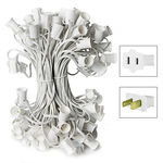 C7 Stringer - 25 Foot - 25 Sockets - 12 in. Spacing - White Wire - Commercial Christmas Lights - HLS C725W C7 Stringer