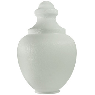 White - UV Resistant Polyethylene - Acorn Street Lamp Globe - 16.81 in. High - 5.75 in. Neck Exterior
