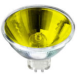 Eiko 15048 - 50 Watt - MR16 - Yellow - FNC Narrow Spot - 4,000 Life Hours - 12 Volts