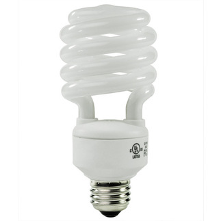 23 Watt - T2 CFL - 100 W Equal - 2700K Warm White - Min. Start Temp. 0 Deg. F - 80 CRI - 70 Lumens per Watt - 15 Month Warranty - Energy Miser FE-IISB-23W/27K Screw In CFL