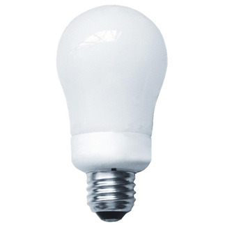 9 Watt - A-Shape CFL - 45 W Equal - 2700K Warm White - Min. Start Temp. 0 Deg. F - 80 CRI - 56 Lumens per Watt - 15 Month Warranty - Energy Miser FE-GU-9W-27K Screw In CFL