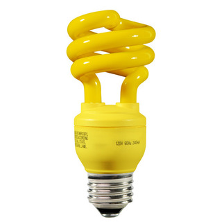 13 Watt - 60 W Equal - Yellow Bug Light - CFL Light Bulb - Energy Miser FE-IIS-13W-Y CFL Bug Light
