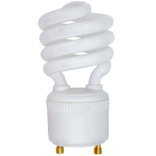 14 Watt - 60 W Equal - Cool White 4100K - CFL Light Bulb - GU24 Base - Energy Miser FE-IISG-14W-41K GU24 CFL